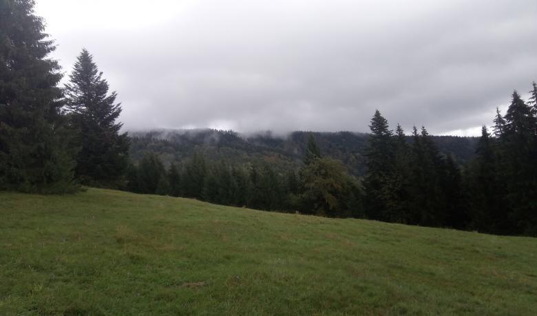 Felhőben a Polyána-csúcs és a Bystré vízesés1